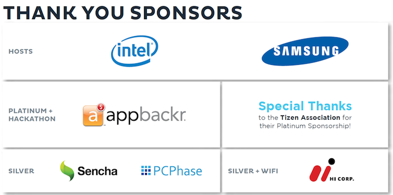 Tizen Developer Summit Sponsors